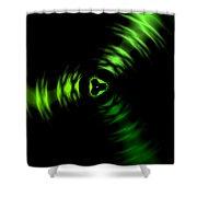 Rotation Green Shower Curtain
