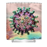 Rotavirus 2 Shower Curtain by Russell Kightley