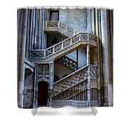 Rouen Cathedral Stairway Shower Curtain