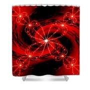 Rouge Et Noir Avec Blanc Shower Curtain