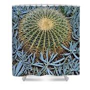 Round Cactus Shower Curtain