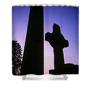Round Tower And High Cross Shower Curtain