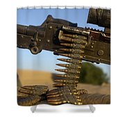 Rounds Of A M240 Machine Gun Shower Curtain