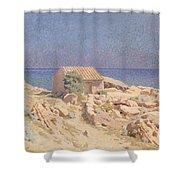 Roussillon Landscape Shower Curtain