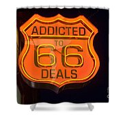 Route 66 Addicted Shower Curtain