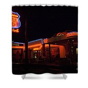 Route 66 At Night Shower Curtain