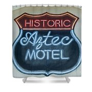 Route 66 Aztec Hotel Mural Shower Curtain