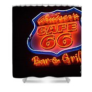 Route 66 Bar And Grill Shower Curtain
