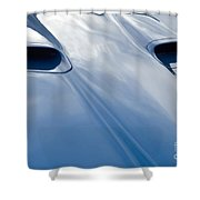 Route 66 Blue Hood Shower Curtain
