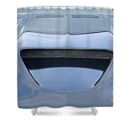 Route 66 Blue Hood Scoop Shower Curtain