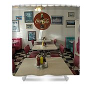 Route 66 Burgers Shower Curtain