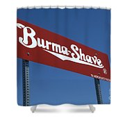 Route 66 Burma Shave Shower Curtain