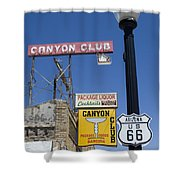 Route 66 Canyon Club Shower Curtain