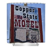 Route 66 Copper State Motel Shower Curtain