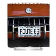 Route 66 Corvette Grill Shower Curtain