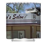 Route 66 Desotos Salon Shower Curtain
