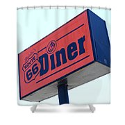 Route 66 Diner Sign Shower Curtain