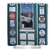 Route 66 Doorway Shower Curtain