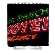 Route 66 El Rancho Shower Curtain
