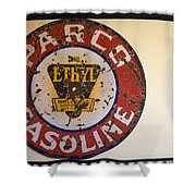Route 66 Gasoline Sign Shower Curtain