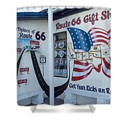 Route 66 Gift Shop Shower Curtain