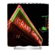 Route 66 Grand Canyon Neon Shower Curtain