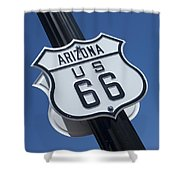 Route 66 Highway Sign Shower Curtain