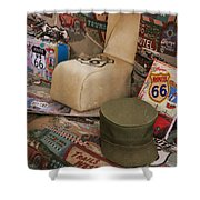 Route 66 Memorablilia Shower Curtain