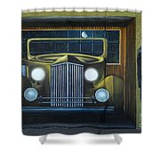 Route 66 Motel Mural Shower Curtain