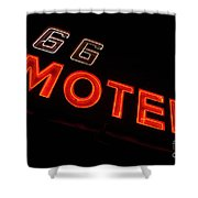 Route 66 Motel Neon Shower Curtain