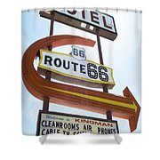 Route 66 Motel Sign 1 Shower Curtain