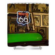 Route 66 Neon Sign 1 Shower Curtain