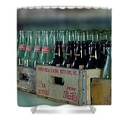 Route 66 Odell Il Gas Station Cases Of Pop Bottles Digital Art Shower Curtain