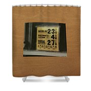 Route 66 Odell Il Gas Station Gas Prices Signage Shower Curtain