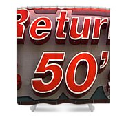 Route 66 Return To The 50s Shower Curtain