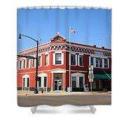 Route 66 - Sayre Oklahoma Shower Curtain
