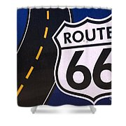 Route 66 Sign Winslow Arizona Shower Curtain