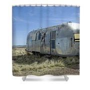 Route 66 Trailer Shower Curtain