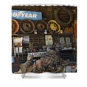 Route 66 Vintage Garage Shower Curtain