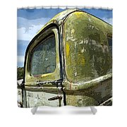 Route 66 Vintage Truck Shower Curtain