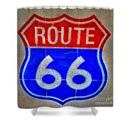 Route 66 Wall Art-2 Shower Curtain