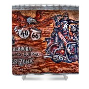 Route 66 Wall Art-3 Shower Curtain