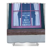 Route 66 Welcome Sign Shower Curtain