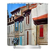 Row Of Houses In Arles Provence Shower Curtain