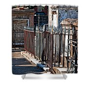 Row Of Tombs St Louis One Cemetery New Orleans Shower Curtain