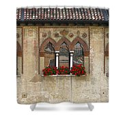 Row Of Windows In Treviso Italy Shower Curtain