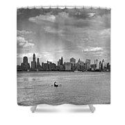 Rowing To Manhattan Shower Curtain