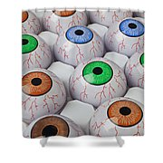Rows Of Eyeballs Shower Curtain