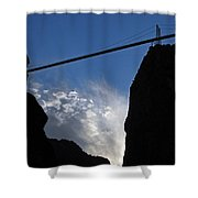 Royal Gorge Bridge And Sky Shower Curtain