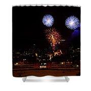Royal Greenwich Fireworks Shower Curtain